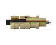 Кабельный ввод типа CR-S*F (Одинарное уплотнение кабеля с возможностью крепления кабелепровода)