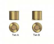 Заглушки металлические типа А и В