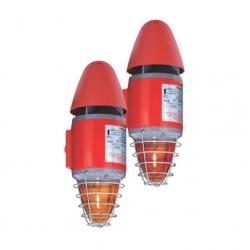 Взрывозащищенный комбинированный сигнальный прибор – 110 дБ (A)/5 Дж Серия YL60