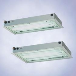 Плоские светильники из  листовой стали,  серия 6012 (зоны 1 и 2, 21 и 22),  серия 6412 (зоны 2, 22)