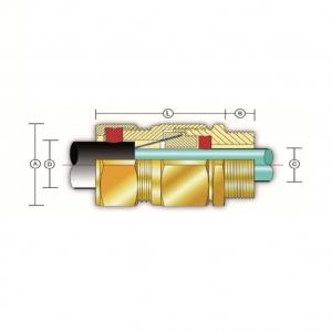 Кабельный ввод типа Е (двойное уплотнение для бронированных кабелей)