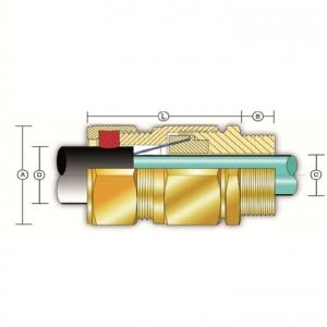 Кабельный ввод типа С (одинарное уплотнение для бронированных кабелей)